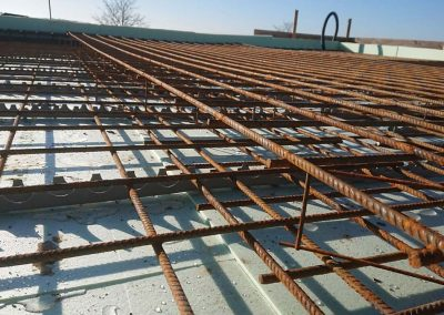 Stahlarbeiten Bodenplatte
